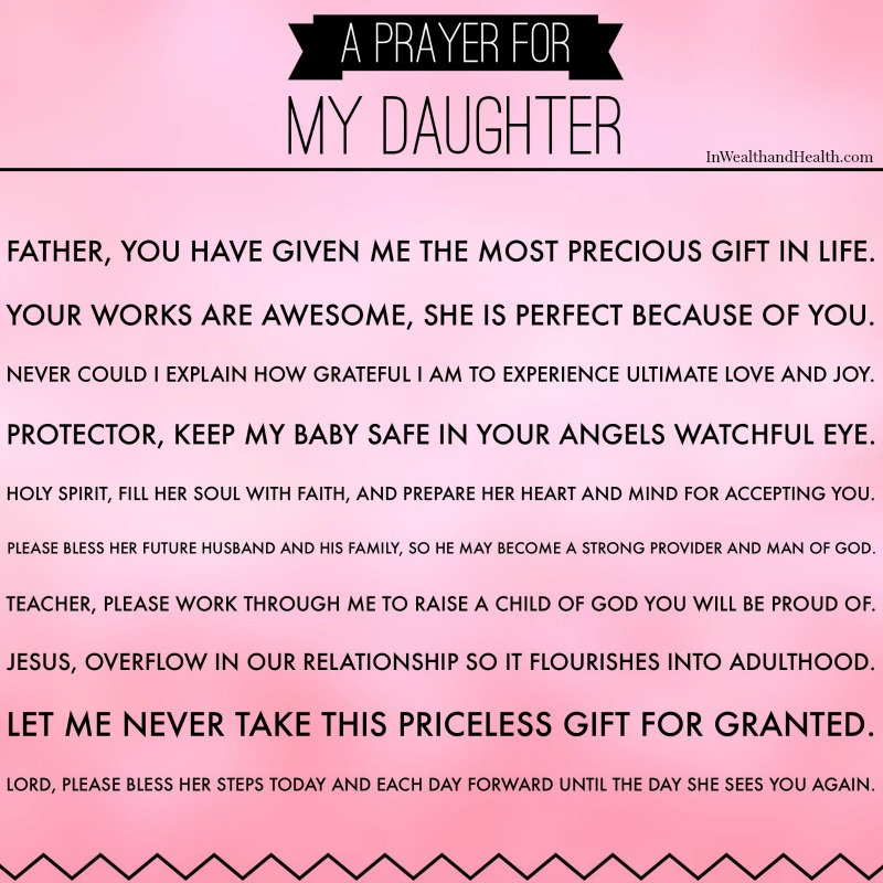 A Mother's Prayer for her daughter