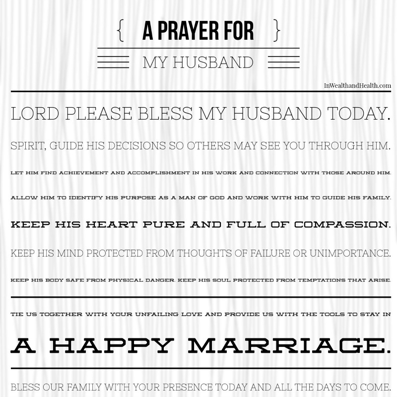 A wife's prayer